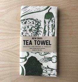 Tea Towel- Veggies, Green