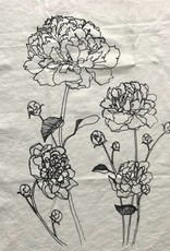 Tea Towel- Peonies