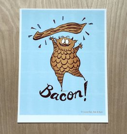 Fisk and Fern Funny Food Print - Bacon Mosnter