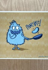 Fisk and Fern Funny Food Print - Pancake Monster