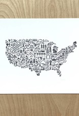 Fell Print- Map Of America