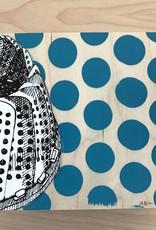 """LA Hoffman Art 6""""x6"""" Pop Kitchen on Cradled Birch- Design 3 Steamer B"""