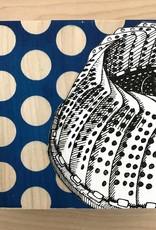 """LA Hoffman Art 6""""x6"""" Pop Kitchen on Cradled Birch- Design 2 Steamer A"""