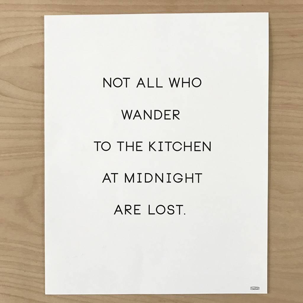 Letters & Company Print - Kitchen