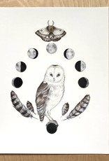 Marika Paz Illustrations Print- Moon Children
