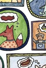 "Print- Furry Foodies 8"" x 10"""