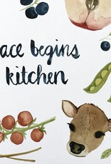 Little Truths World Peace Begins In The Kitchen, 8 1/2 x 11