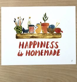 Little Truths Happiness Is Homemade Art Print, 8 1/2 x 11