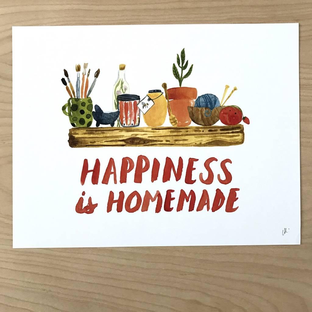 Little Truths Happiness Is Homemade Art Print, 8 1/2 x 11