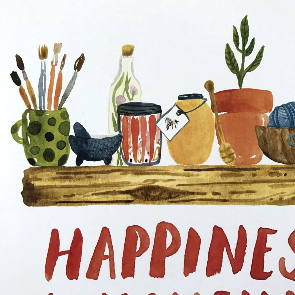 Little Truths Print- Happiness Is Homemade Art, 8 1/2 x 11