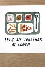 Little Truths School Lunch Watercolor Art Print 8 1/2 x 11
