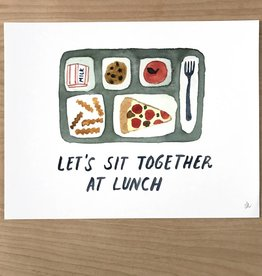 Little Truths Print- School Lunch Watercolor Art  8 1/2 x 11