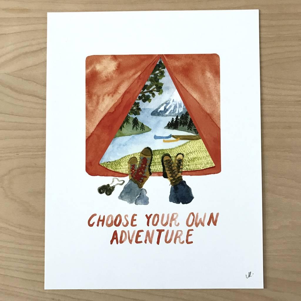 Little Truths Choose Your Own Adventure Art Print, 8 1/2 x 11