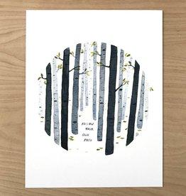 Little Truths Print- Follow Your Path Watercolor Art, 8 1/2 x 11