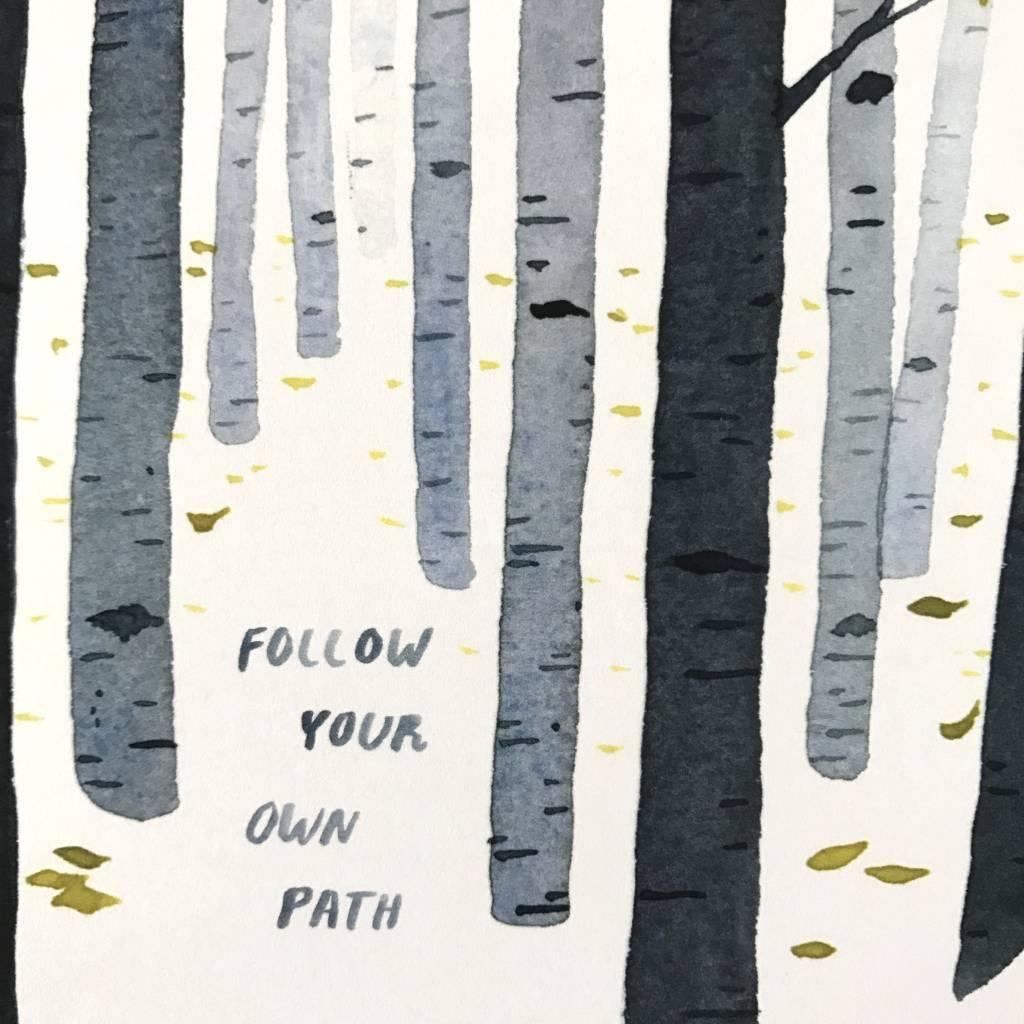 Little Truths Follow Your Path Watercolor Art Print, 8 1/2 x 11