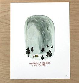 Little Truths Campfire Art Print, 8 1/2 x 11