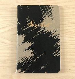 Sugar & Type Notebook- Gold Foil Waves