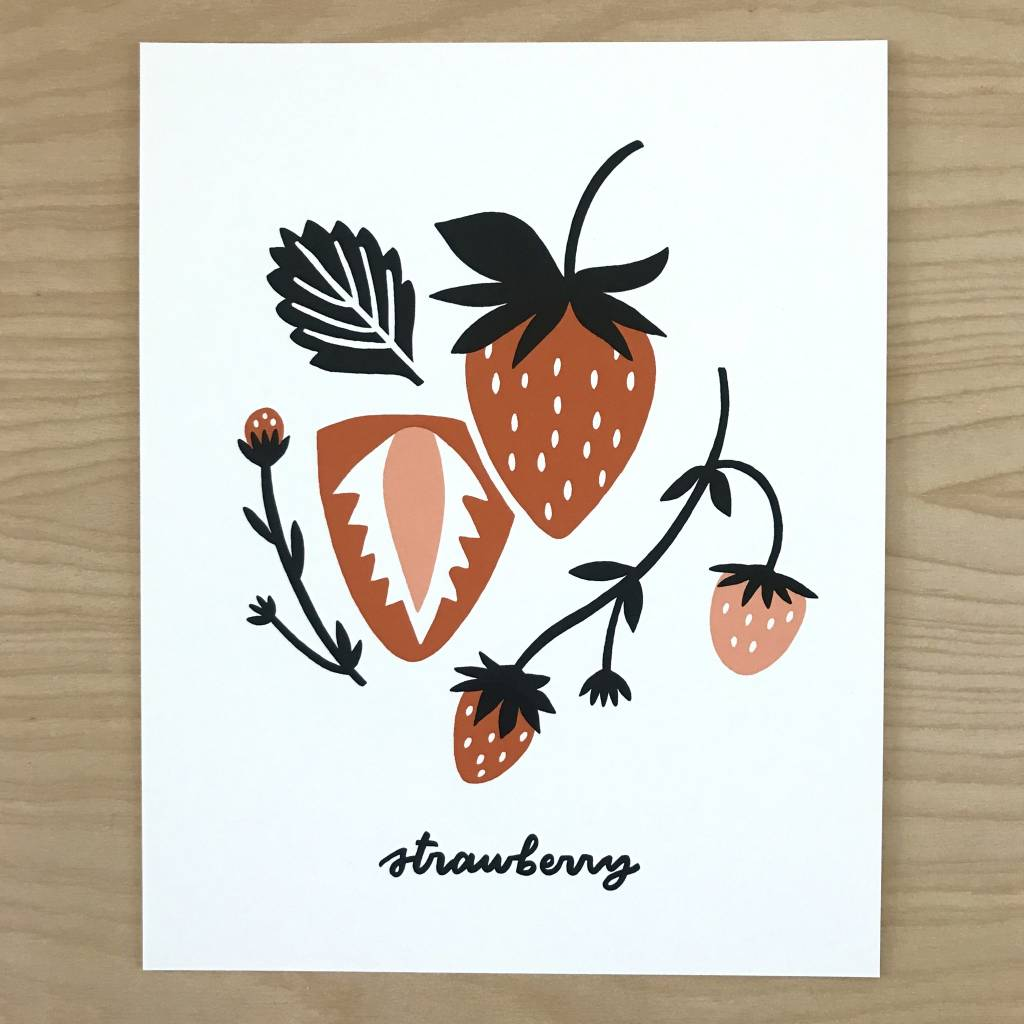 Worthwile Paper Print- Strawberry 8x10
