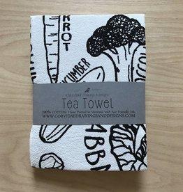 Corvidae Tea Towel- Veggies