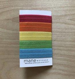 Elastic Hair Ties Rainbow Pack