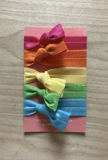 Elastic Hair Ties Rainbow Pack