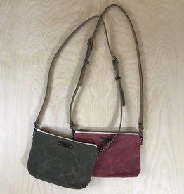 Waxed Canvas Mini Cross Body Bag