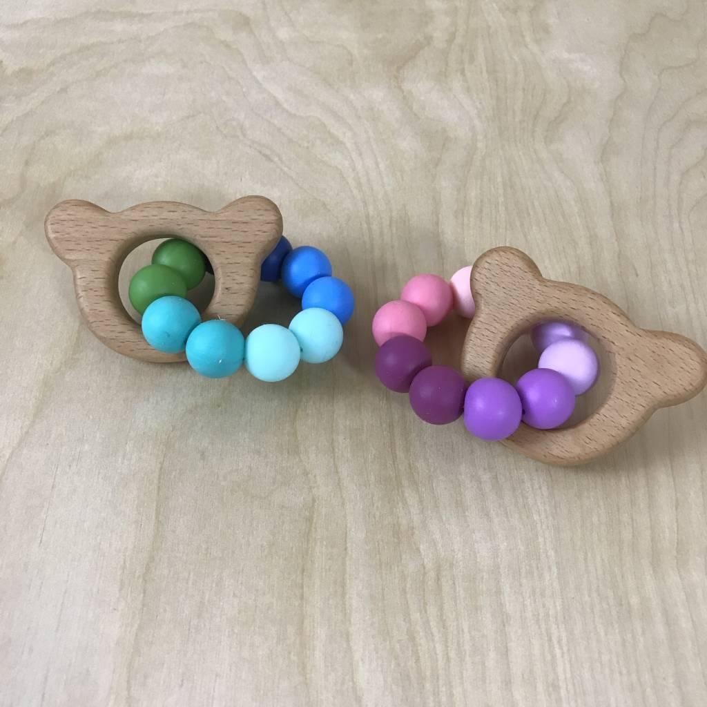 Teething Ring - Wood & Silicone