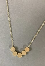 Necklace- Dots, Gold