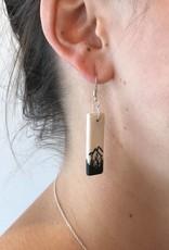 Earring - Porcelain Bar, white