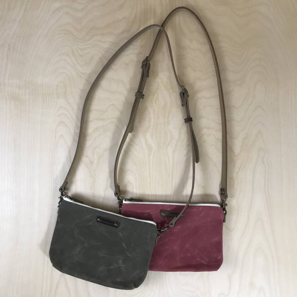 Red House Inc Waxed Canvas Mini Cross Body Bag