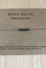 Tart - Necklace + Intention Card- Moss Agate