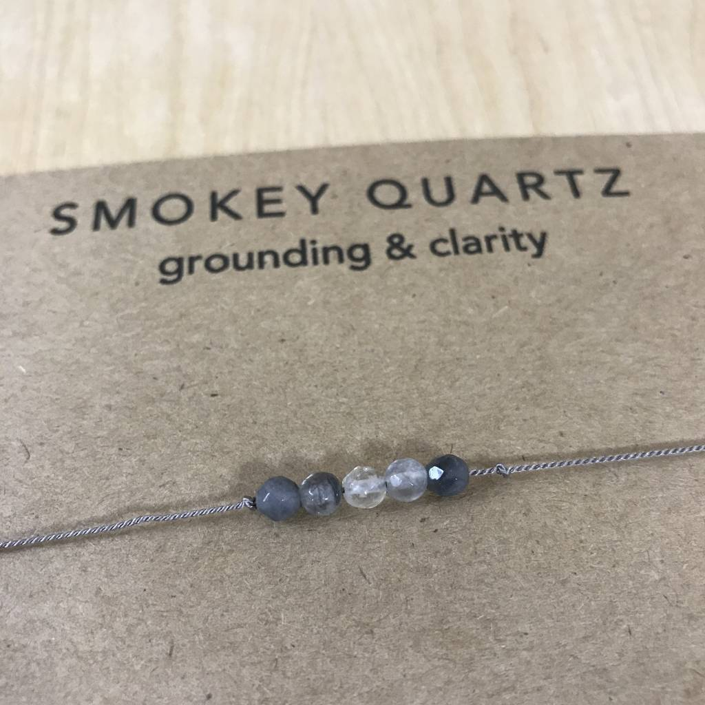 Tart - Necklace + Intention Card- Smokey Quartz