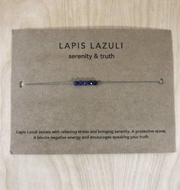 Tart - Necklace + Intention Card- Lapis Lazuli