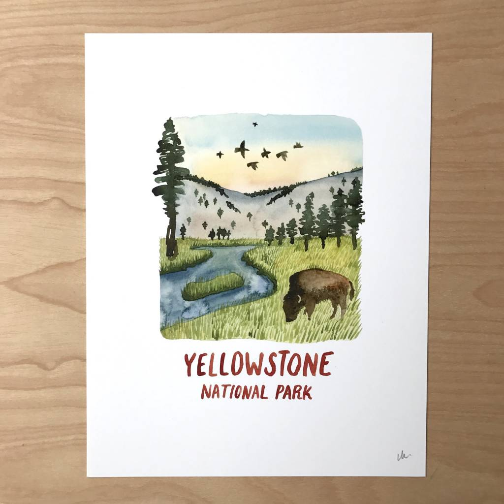 Little Truths Print- Yellowstone Bison