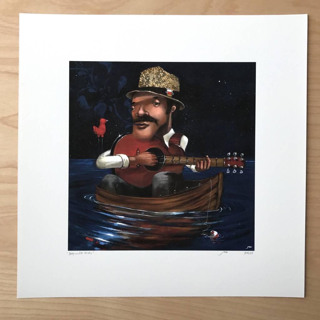 Print - Deep Water Blues 12x12