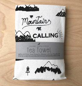 Corvidae Tea Towel- Mountains Calling