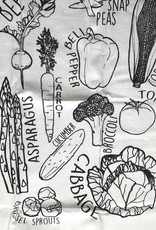 Corvidae Tea Towel- Veggies