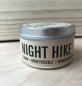 Wandering Bison Wax Co. Candle- Night Hike New 8oz
