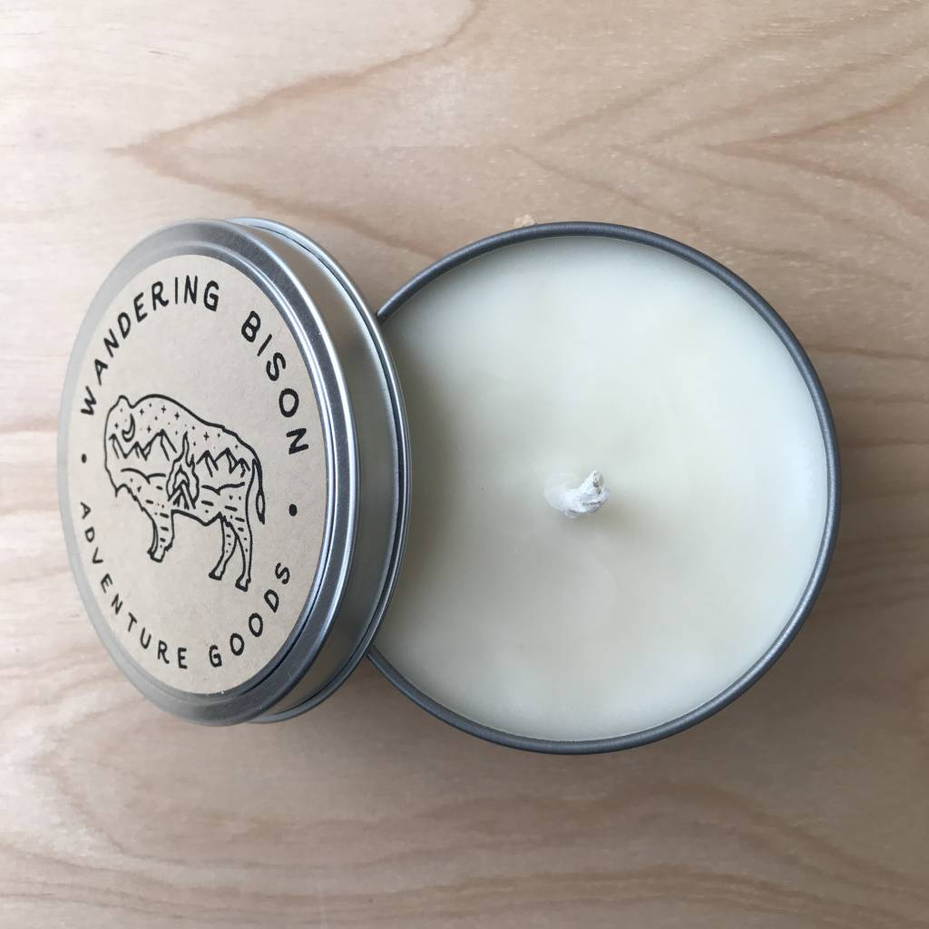 Wandering Bison Wax Co. Candle- Base Camp New 8oz