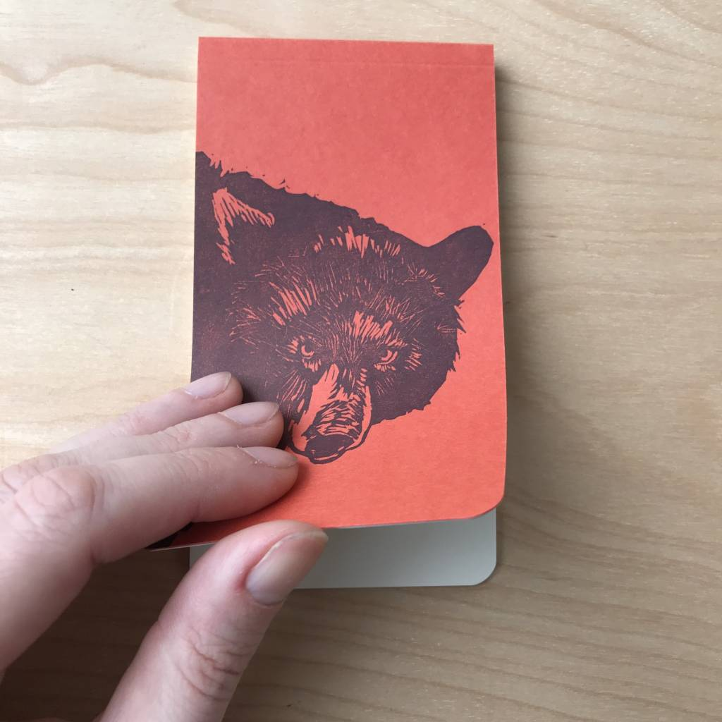 Notebook- Bear Linocut
