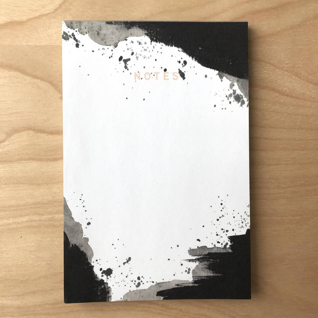 Pen+Pillar Notepad- Black Splatter
