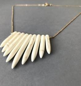 Necklace- Howlite Points