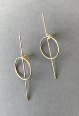 Earrings- 50/50 Gold