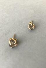 Earring- Smoky Quartz Studs