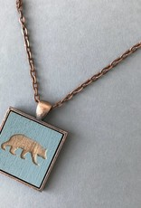 Bear Pendant- Copper, Slate