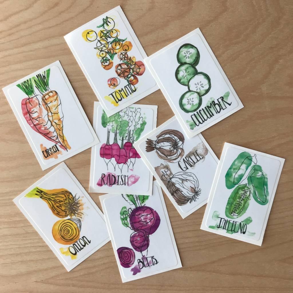 Sticker Pack- Veg Tastic