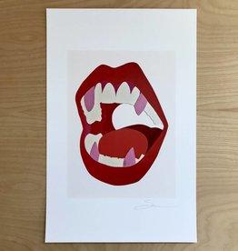 Christopher Sorenson Print- Chomp, Red