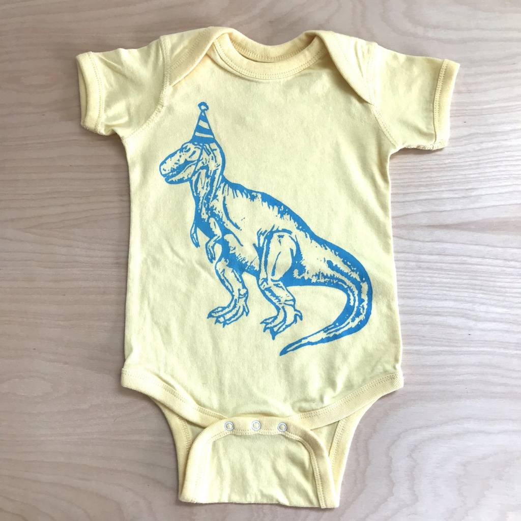 The Coin Laundry Onesie- Dino Party Hat