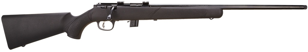 "Marlin Bolt 22LR Threaded 22"" 7+1 Black Synthetic Stk Blued"