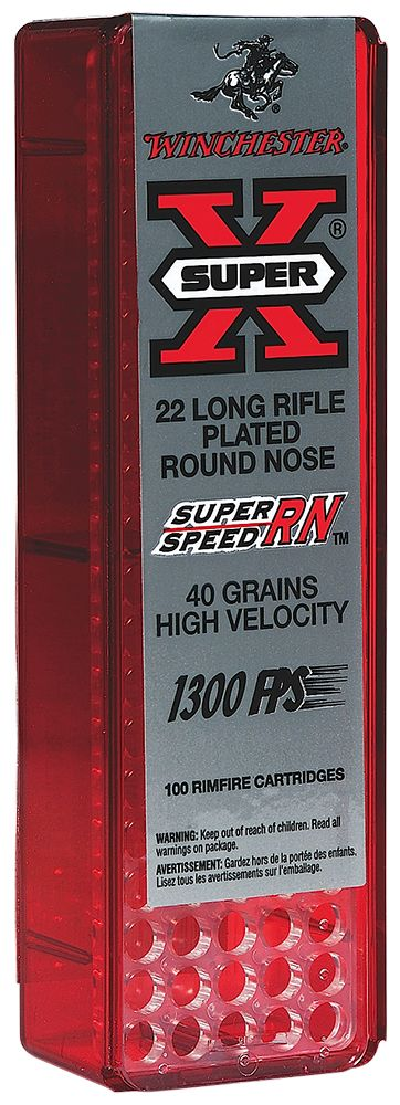 Winchester Super X 22 Long Rifle Round Nose 40 GR 100Box/20Case